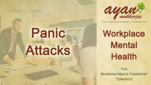 anxiety, panic attacks work stress, workplace mental health, chronic stress, heart palpitations, sweaty palms, shallow breathing, dizziness, nausea, Toronto